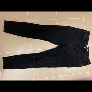 Rachel Roy black denim skinny jeans distressed